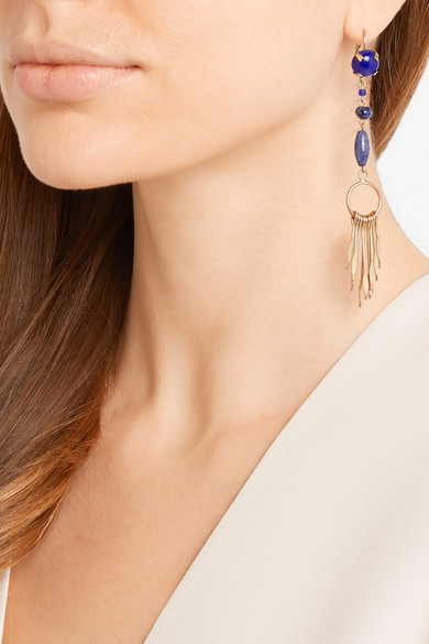 isabel marant jacques gold tone multi stone earrings 2