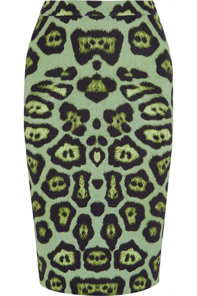 givenchy_greenleopardskirt