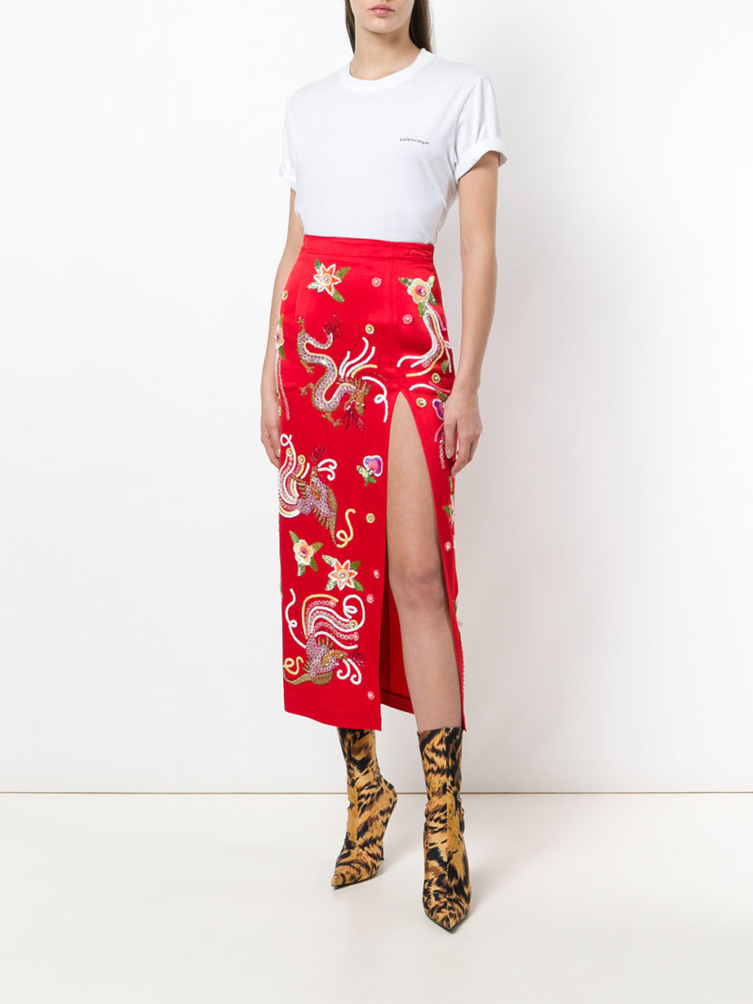 Attico Embellished Fitted Skirt The Untitled Boutique